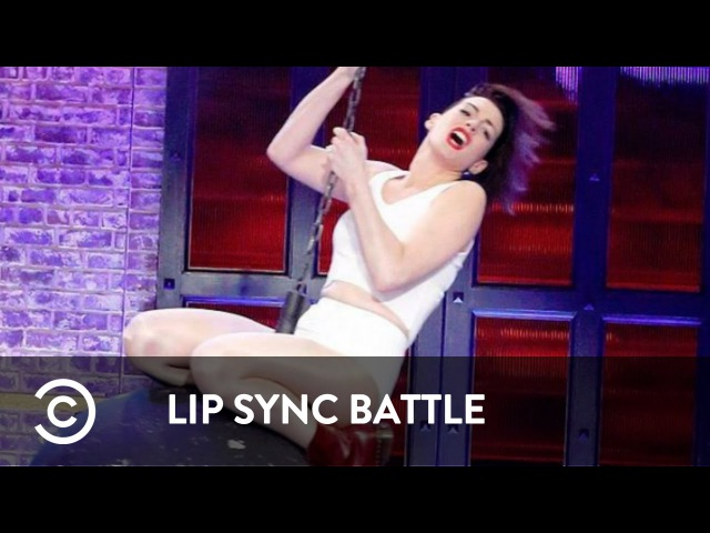 Lip Sync Battle | Anne Hathaway Wrecking Ball