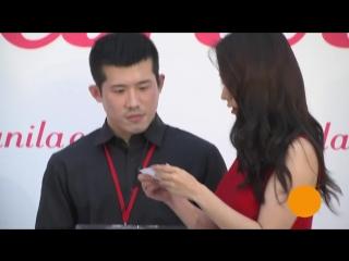 151223 Сон ДжиХё на открытии магазина banila co, Тайвань
