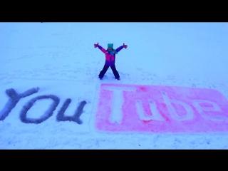 Кнопка Ютуб Рисуем на снегу Логотип YouTube Button YouTube Draw snow YouTube logo