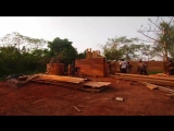 Nkabom House is prototypal Ghanaian home made from mud and waste plastic
