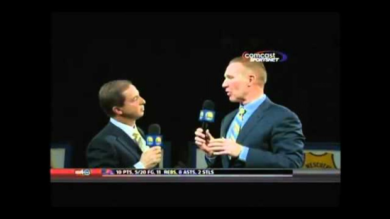 Golden State Warriors fans boo owner Joe Lacob during Chris Mullin jersey retirement