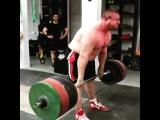 Влад Алхазов ( Израиль), становая тяга - raw - 340 кг на 5 раз (без ремня) !