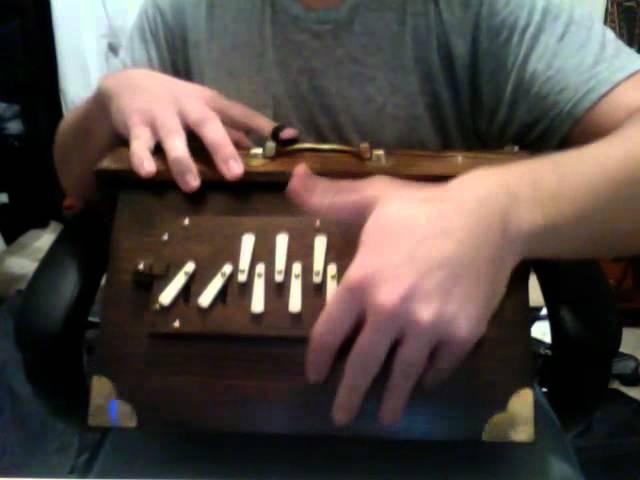 M1 Shruti Box - playing the shruti box rhythmically