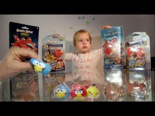 Необычный Мяч-лизун Енгри Бердс. Открываем игрушки  Кидаем об Стену липкого Angry Birds Space Angry