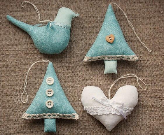 Новогодние игрушки своими руками из ткани фото