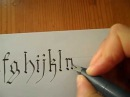 Gothic Calligraphy Letters Tutorial