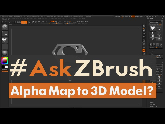 """AskZBrush: """"How can I create a 3D Model from an Alpha or Height Map inside of ZBrush?"""""""