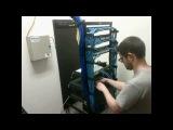 Перемонтаж коммутационной панели (патч-панели) Rewire около 6 часов работы