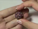 Tutorial Sfera Rivestita con Twin Beads Superduo Bicono e Perle Swarovski Beaded Bead