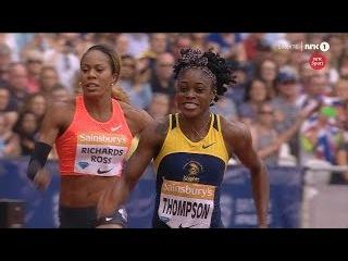 200m Elaine THOMPSON 22.10 PB beats Tori BOWIE DL London 2015 HD