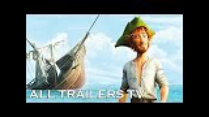 Робинзон Крузо \ Robinson Crusoe: Очень обитаемый остров (2016) | Русский Трейлер (мультфильм)