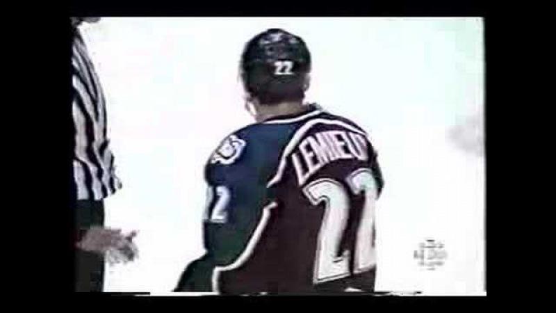 1996 Playoffs - Vladimir Konstantinov - Claude Lemieux hit