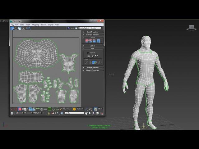 3D Max KF - делаем UV развертку от начала до конца