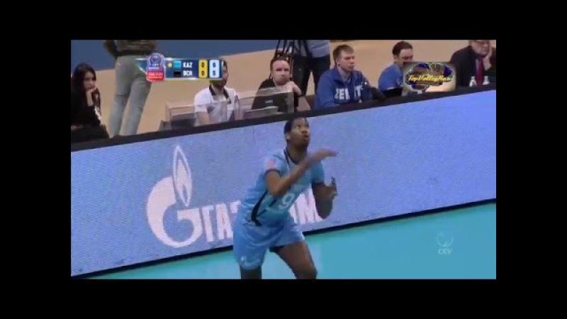 Зенит-Казань-Скра Вильфредо Леон Атака/Zenit Kazan-Skra Wilfredo Leon spike 16.03.2016