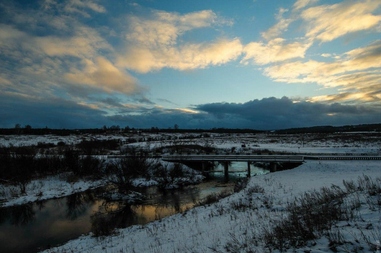 Закат над рекой Телес