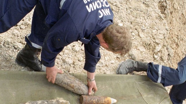 Под Таганрогом найдены 5 снарядов времен ВОВ