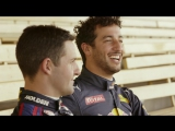 Daniel Ricciardo drives the Triple Eight Project Sandman V8 Supercar