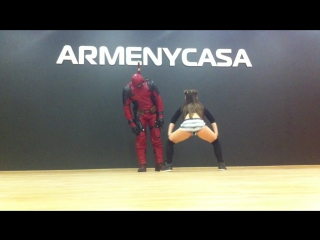 Deadpool and Kira! Twerk, тверк детка ;) dance
