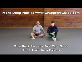 Jason Scully. Deep Half Guard - Double Under Sweep.