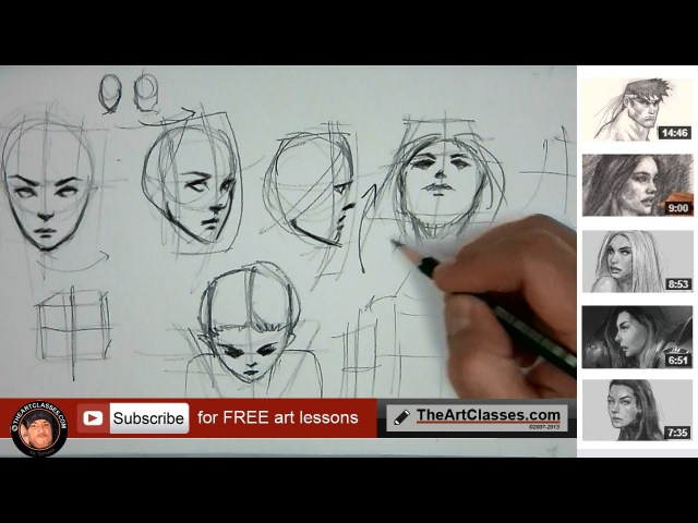 How to draw head in different angles or directions (part 2 of 3)