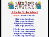 I Like to Go to School - Children's Back to School Rhymes and Songs - Kids Read and Sing Along