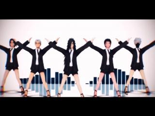 [MMD NARUTO] Getleman Madara, Obito, Kabuto, Kakashi and Itachi