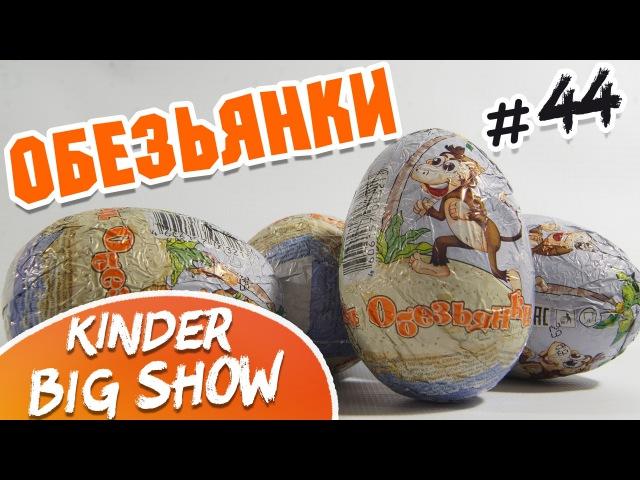 Kinder Big Show - Открываем шоколадные яйца, коллекция обезьянки 44 киндеры kinders обезьянки KinderBigShow Киндербигшоу kindertoysshow киндертойсшоу киндертойс
