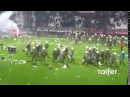 Big Riots : PAOK vs Olympiakos suspended after fans light flares, invade pitch.  02032016