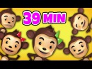 Five Little Monkeys Jumping On The Bed   Plus Lots More Nursery Rhymes   39 Min By Raggs Tv