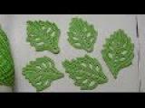 Как связать объемный ЛИСТИК - урок вязания крючком для начинающих - How to crochet leaf