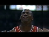 Michael Jordan Eyes Closed Free Throw (Taunts Rookie Dikembe Mutombo)