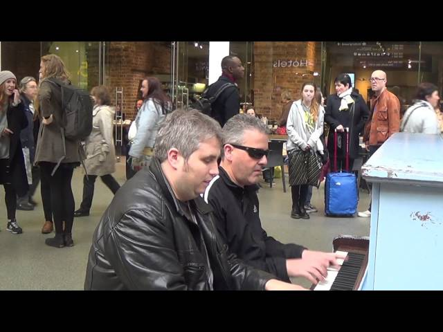 Two Dudes Boogie Woogie St Pancras Station
