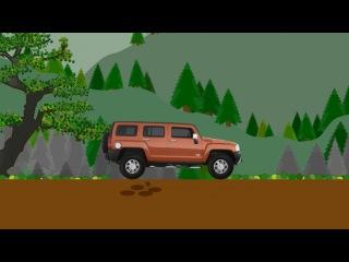 Мультфильм про машинки Хаммер  Учим марки автомобилей   Мультик пазл