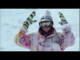Kim first time on snowboard (Chalet girl)