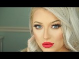 Holiday Glam Makeup Tutorial  Bronze Eyes &amp Red Lips