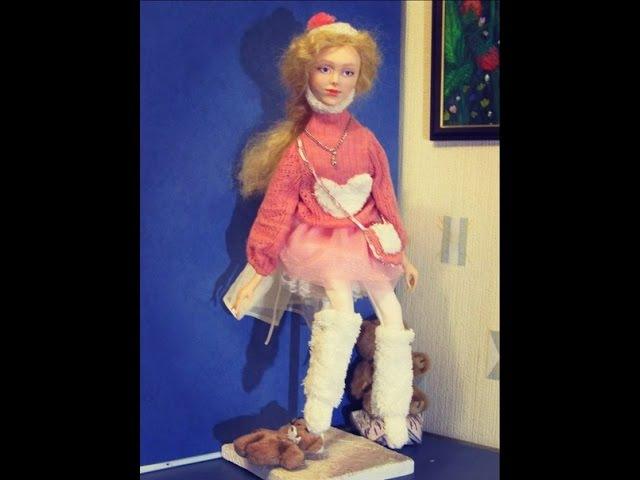 Бесплатный Мастер класс по лепке лица куклы из полимерной глины роспись лица авторской куклы