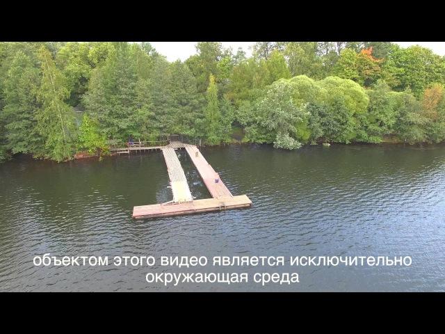 DJI Phantom 4K video SPB озеро Суздальское м. Озерки