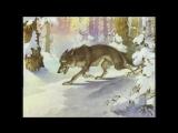 Сказка.  Дед-разиня, хитрая Лиса и глупый Волк.(озвученный диафильм сказка и мультфильм).
