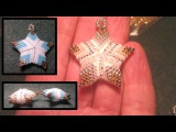 Beading4perfectionists Beaded 3D Christmas star ornament or pendant beading tutorial
