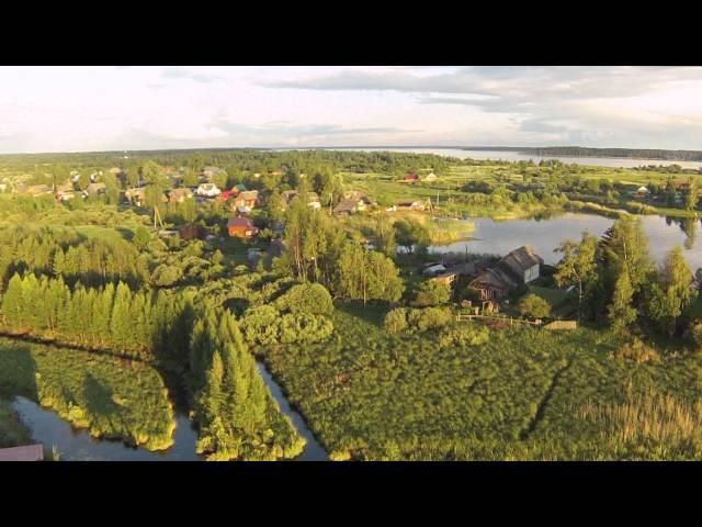 Селигер 2014 Нилова Пустынь с воздуха - съемки с дрона квадрокоптера DJI Phantom