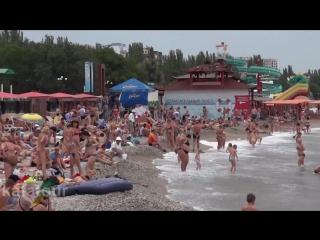 Центральный пляж Феодосии - отдых в Крыму
