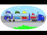 Мультик про машинки -  Раскраска - Самые маленькие автомобили - Часть 2