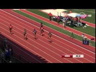 Women's 400m Final Allyson Felix 50.19 USATF Outdoor Championships Eugene 2015