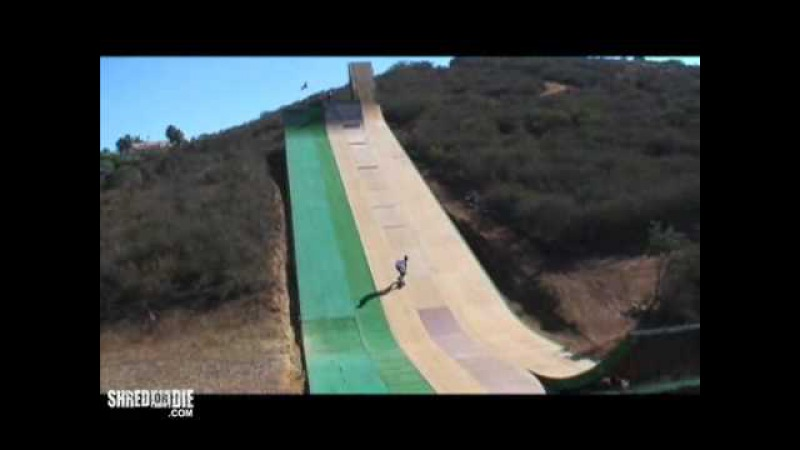 Tony Hawk at Bob Burnquist's Mega Ramp