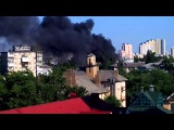 14 06 15 горит жилой дом на Дарнице