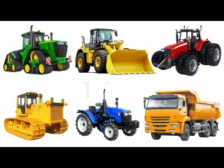 Мультфильм для детей про машинки   Пазл   Тракторы и Грузовики