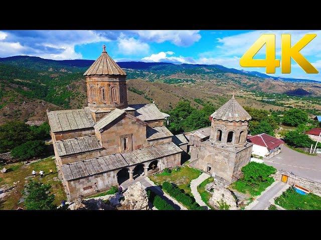 Zarzma Monastery / ზარზმის მონასტერი / Монастырь Зарзма / - 4K aerial video footage DJI Inspire 1