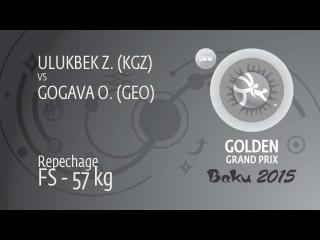 Repechage FS - 57 kg: O. GOGAVA (GEO) df. Z. ULUKBEK (KGZ), 7-2