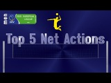 Stars in Motion Top 5 Most Spectacular Net Actions - CEV Volleyball European League - Final Four