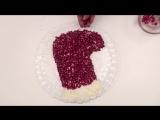 Новогодний салат Сапожок Деда Мороза - 720x540